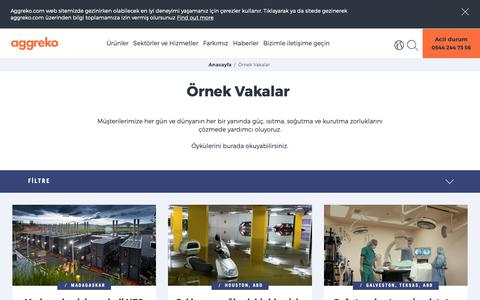 Screenshot of Case Studies Page aggreko.com - Örnek Vakalar | Aggreko - captured Oct. 21, 2018