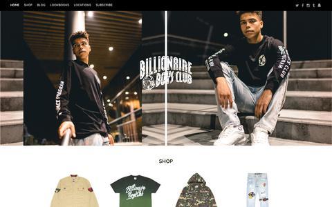 Screenshot of Home Page bbcicecream.com - Billionaire Boys Club - captured Oct. 10, 2017
