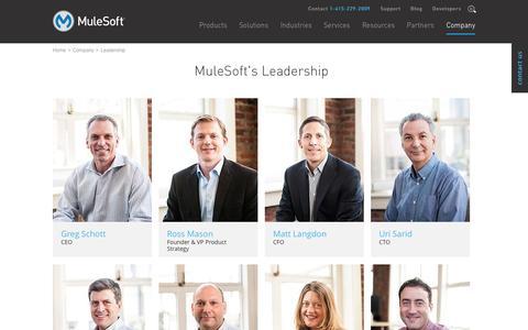 Screenshot of Team Page mulesoft.com - Team   MuleSoft - captured Nov. 2, 2015