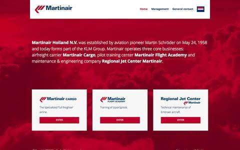 Screenshot of Home Page martinair.com - Martinair Holland N.V. - captured Aug. 2, 2015