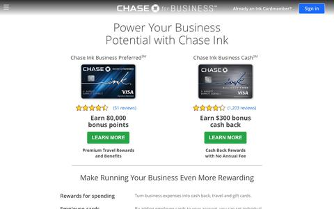 Business Credit Cards | Chase.com