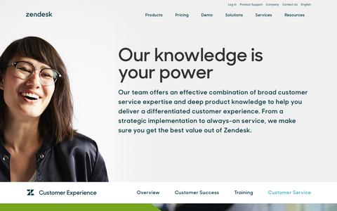 Screenshot of Support Page zendesk.com - Customer Experience Service | Zendesk - captured Feb. 27, 2017