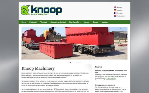 Screenshot of Home Page knoopmachinery.nl - Knoop Machinery BV - captured Oct. 6, 2014