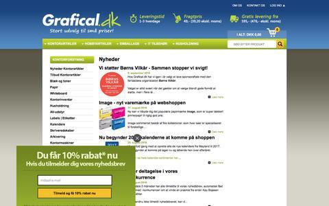Screenshot of Press Page grafical.dk - Nyheder - captured Sept. 19, 2016
