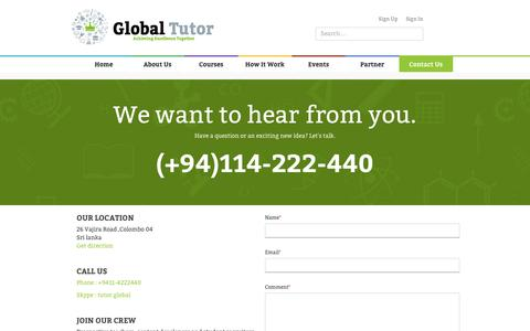 Global Tutors   Contact us