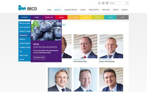 Screenshot of Team Page imcdgroup.com - Management   IMCD - captured June 27, 2017