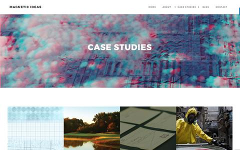 Screenshot of Case Studies Page magnetic-ideas.com - Case Studies – Magnetic Ideas - captured Oct. 5, 2017