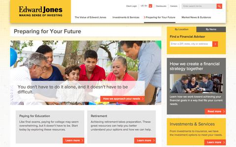 Preparing for Your Future | Edward Jones