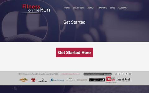 Screenshot of Signup Page fitnessontherun.net - Get Started - Fitness On The Run - captured Aug. 14, 2018