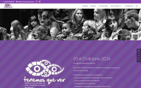 Screenshot of tenemosquever.org.uy - Tenemos Que Ver | Festival Internacional de Cine y Derechos Humanos de Uruguay - captured Feb. 9, 2016