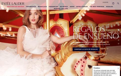 Screenshot of Home Page Privacy Page esteelauder.es - Estée Lauder | Perfumería, Maquillaje y Cosmética. - captured Nov. 22, 2018
