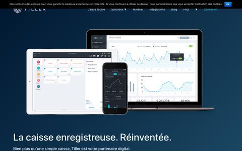 Screenshot of Home Page tillersystems.com - La caisse enregistreuse tactile sur iPad n°1 en France - Tiller - captured Nov. 7, 2018