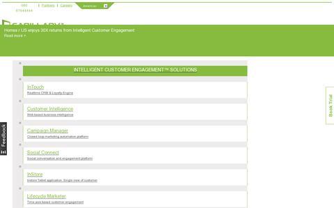 Screenshot of Case Studies Page capillarytech.com - Case Studies: Customer Success Stories    Capillary Tech - captured July 18, 2014