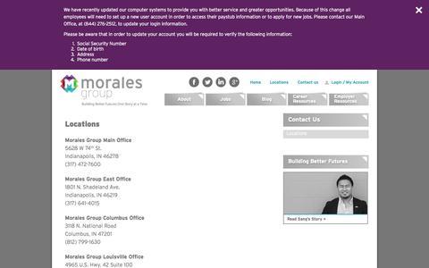 Screenshot of Locations Page moralesgroup.net - Locations | Morales GroupMorales Group - captured Nov. 18, 2015