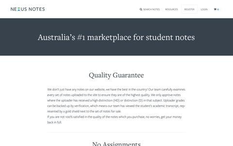 Screenshot of About Page nexusnotes.com - Nexus Notes – About - captured Oct. 7, 2014