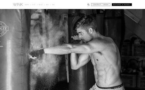 Screenshot of Home Page winkmodels.com.au - Wink Models Australia | Modelling Agency, Agencies Melbourne & Sydney | WINK Models - captured Dec. 21, 2016