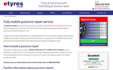 Punctures? Call Us For A Fully Mobile Repair - etyres