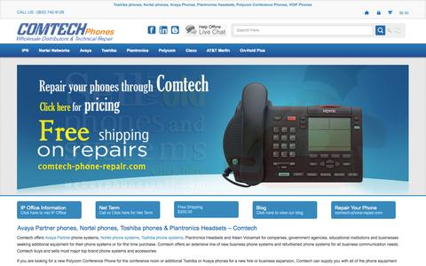 Screenshot of Home Page comtechphones.com - Comtech Phones, Business Phone Systems | Toshiba, Nortel Norstar, Avaya Telephones - captured Sept. 24, 2014