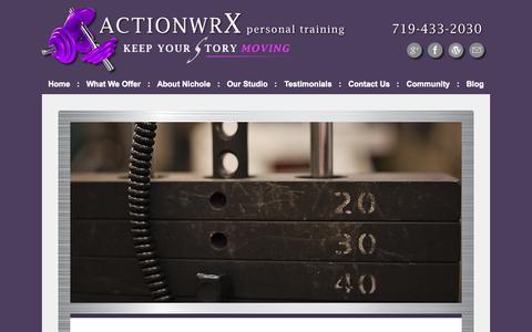 Screenshot of Site Map Page actionwrx.com - Site Map for actionwrX Personal Training - captured Nov. 2, 2014