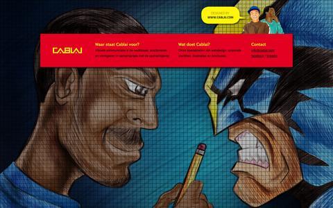 Screenshot of Contact Page cablai.com - Contact | Cablai - captured Sept. 26, 2014