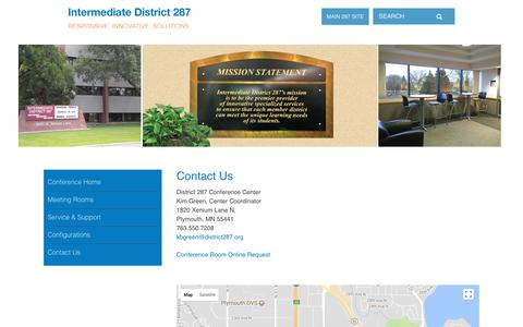 Screenshot of Contact Page district287.org - Intermediate District 287: Contact Us - captured Feb. 5, 2018