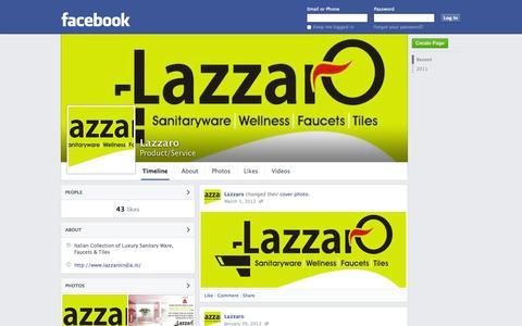 Screenshot of Facebook Page facebook.com - Lazzaro   Facebook - captured Oct. 22, 2014