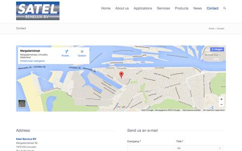 Screenshot of Contact Page satelbv.nl - Contact | Satel Benelux - captured Feb. 3, 2016