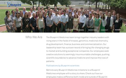 Biotech team pages website inspiration and examples crayon screenshot of team page blueprintmedicines who we are blueprint medicines captured malvernweather Image collections