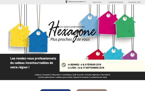 Screenshot of Home Page hexagone.fr - Salon Hexagone, salon professionnel incontournable du cadeau - captured March 13, 2018