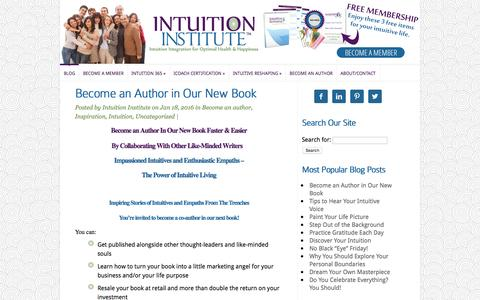 Screenshot of Home Page intuition-institute.com - Intuition Institute   - captured March 13, 2016