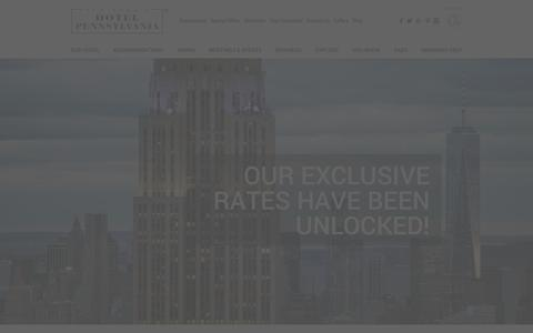 Screenshot of Login Page hotelpenn.com - Vacation Deals | New York Travel Deals | Hotel Penn - captured Jan. 26, 2016