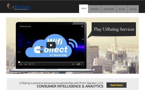 Screenshot of Home Page urrating.com - Consumer Intelligence & Digital Marketing Agency: UrRating - captured Feb. 23, 2016