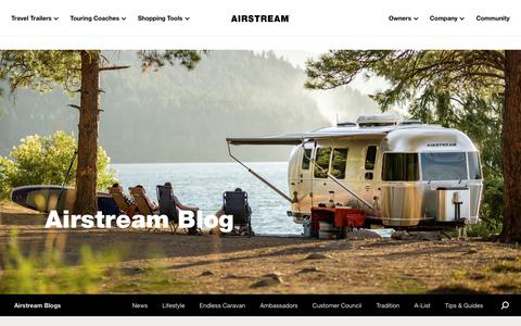 Screenshot of Blog airstream.com - Airstream Blog | Live Riveted | A Community of Explorers Telling Stories - captured Feb. 8, 2020