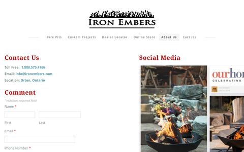 Screenshot of About Page ironembers.com - About Us - Iron Embers - captured Sept. 20, 2018