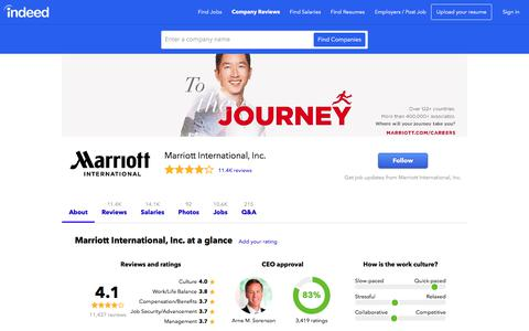 Marriott International, Inc. Careers and Employment | Indeed.com