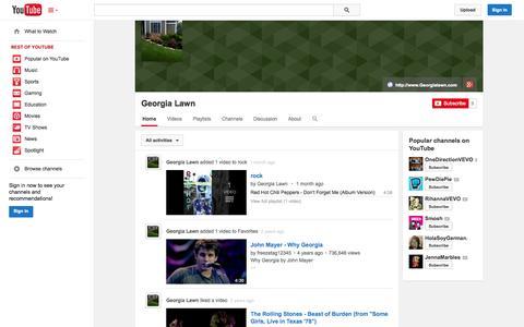 Screenshot of YouTube Page youtube.com - Georgia Lawn  - YouTube - captured Oct. 22, 2014