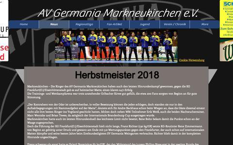 Screenshot of Press Page av-germania.com - AVG Markneukirchen | News - captured Oct. 30, 2018