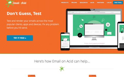 Email on Acid: Email Testing & Rendering Tools