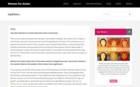 Screenshot of FAQ Page womenforaction.org - FAQs - captured Sept. 20, 2018