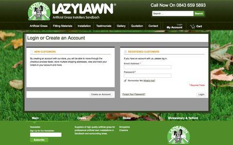 Screenshot of Login Page lazylawnsandbach.co.uk - Customer Login - captured Sept. 29, 2014