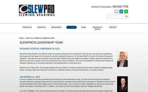 Screenshot of Team Page slewpro.com - Leadership Team I SlewPro - captured Sept. 21, 2018