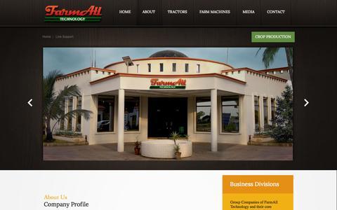 Screenshot of About Page farmalltechnology.com - FarmAll Technology - About Us - captured Oct. 5, 2014