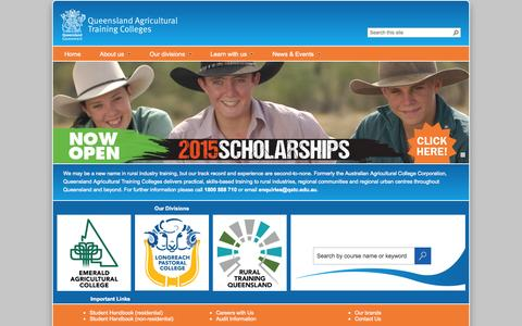 Screenshot of Privacy Page aacc.edu.au - Queensland Agricultural Training Colleges - captured Oct. 4, 2014