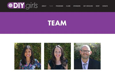 Screenshot of Team Page diygirls.org - Team — DIY Girls - captured Aug. 5, 2018