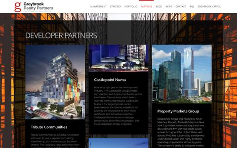 Screenshot of Developers Page greybrook.com - Developer Partners - Greybrook Realty Partners - captured Nov. 16, 2016