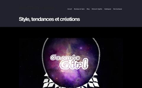 Screenshot of Blog agatha.fr - AGATHA - blog | Le blog style, tendances et créations  d'AGATHA Paris ! - captured Sept. 23, 2014