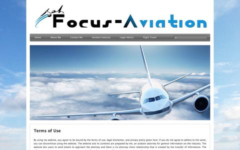 Screenshot of Terms Page focus-aviation.cc - Terms of Use � Focus � Aviation | Focused Aviation - captured Jan. 8, 2016