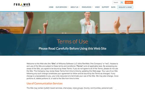 Screenshot of Terms Page renweb.com - Terms of Use - RenWeb - captured June 13, 2017