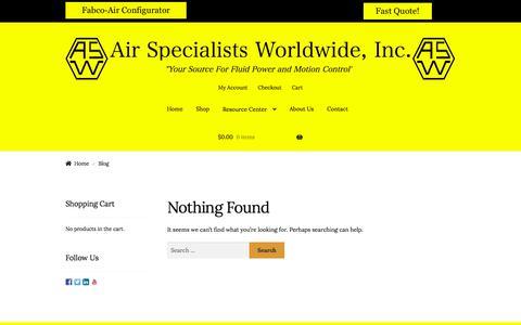 Screenshot of Blog airspec.com - Blog – Air Specialists Worldwide, Inc. - captured Sept. 24, 2018
