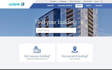 Screenshot of Signup Page wavebroadband.com - Order Services - Wave G - captured May 20, 2017